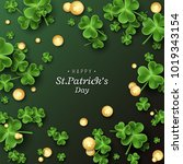 St. Patrick\'s Day Card. Clover...