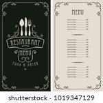 template vector menu for... | Shutterstock .eps vector #1019347129