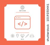 code editor icon. element for... | Shutterstock .eps vector #1019350441