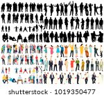 vector  isolated silhouette... | Shutterstock .eps vector #1019350477
