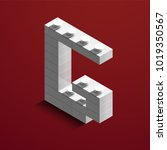 realistic white 3d isometric... | Shutterstock .eps vector #1019350567