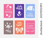 vector set of  creative spring... | Shutterstock .eps vector #1019352391