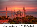 the blue mosque   sultanahmet   ... | Shutterstock . vector #1019356441