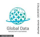 abstract globe logo icon | Shutterstock .eps vector #1019357611