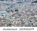 panoramic aerial urban... | Shutterstock . vector #1019361079