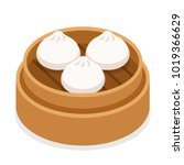 dim sum  traditional chinese... | Shutterstock .eps vector #1019366629