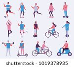 vector illustration in flat... | Shutterstock .eps vector #1019378935