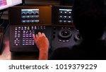 telecine controller machine for ...   Shutterstock . vector #1019379229
