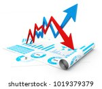 3d illustration inflation and... | Shutterstock . vector #1019379379