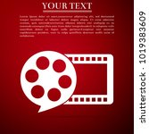 film reel and play video movie...   Shutterstock .eps vector #1019383609