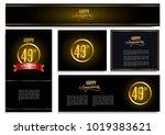 happy anniversary design card... | Shutterstock .eps vector #1019383621