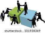 business team help facilitate... | Shutterstock .eps vector #101938369