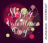 hand drawn valentines day... | Shutterstock .eps vector #1019384167