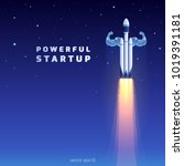 powerful startup. launch of... | Shutterstock .eps vector #1019391181