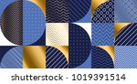luxury marine geometric pattern.... | Shutterstock .eps vector #1019391514