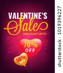 valentines day discount banner... | Shutterstock .eps vector #1019396227