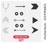 arrow signs set vector icon...
