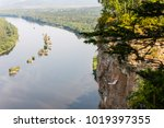 landscape with a river and... | Shutterstock . vector #1019397355