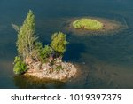 landscape with a river and... | Shutterstock . vector #1019397379