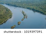 landscape with a river and... | Shutterstock . vector #1019397391