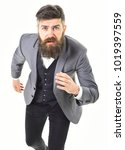 frightened man concept. mature... | Shutterstock . vector #1019397559
