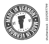 made in vermont state usa... | Shutterstock .eps vector #1019397799