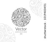 vector emblem. can be used for... | Shutterstock .eps vector #1019403451