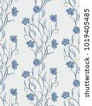 seamless pattern in ethnic... | Shutterstock .eps vector #1019405485