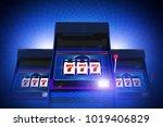 triple seven casino slot... | Shutterstock . vector #1019406829