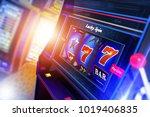 slot machine 3d rendered...