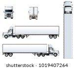 vector truck template isolated... | Shutterstock .eps vector #1019407264