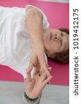 asian senior woman doing...   Shutterstock . vector #1019412175