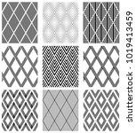 set of seamless diamonds... | Shutterstock .eps vector #1019413459