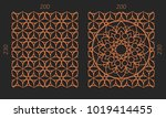 laser cutting set. woodcut... | Shutterstock .eps vector #1019414455