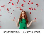 Image Of Redhead Young Happy...
