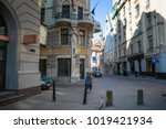 empty streets of the old town... | Shutterstock . vector #1019421934