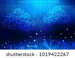 2d rendering cloud computing ... | Shutterstock . vector #1019422267