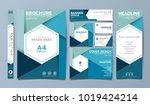 blue corporate identity set... | Shutterstock .eps vector #1019424214