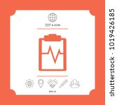 electrocardiogram icon. element ...   Shutterstock .eps vector #1019426185