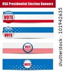 vector   vote banners. set of... | Shutterstock .eps vector #101942635
