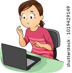 illustration of a kid girl... | Shutterstock .eps vector #1019429149