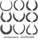 aniversario,premio,rama,certificado,campeón,escudo de armas,decoración,heráldica,ilustración,aislado,corona de laurel,líder,hoja,medalla,adornado