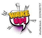 wake up morning hand drawn...   Shutterstock .eps vector #1019430757