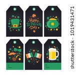 collection of saint patrick's... | Shutterstock .eps vector #1019431471