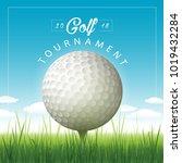 vector golf tournament...   Shutterstock .eps vector #1019432284