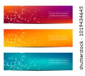 science and technology banners. ... | Shutterstock .eps vector #1019434645
