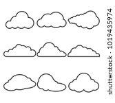 set of different black contour...   Shutterstock .eps vector #1019435974