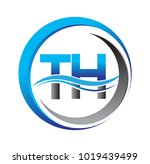 initial letter logo th company... | Shutterstock .eps vector #1019439499