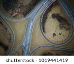 drone view of highway traffic