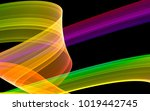 abstract colorful ribbon  vivid ... | Shutterstock . vector #1019442745